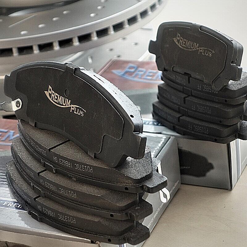 KM085182 E-Coated Slotted Drilled Rotors + Ceramic Pads Max Brakes Rear Supreme Brake Kit Fits: 2014 14 2015 15 Fits Nissan Armada
